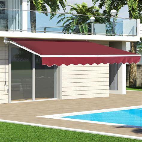 Tenda Da Sole Impermeabile Outsunny Tenda Da Sole Per Esterno Balcone Avvolgibile