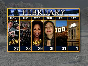 Calendar: Week of January 27 - CBS News