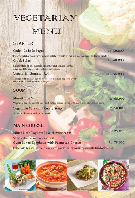 salad menu list