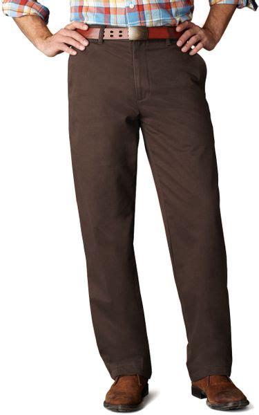 dockers classic fit khaki pants  brown  men dark
