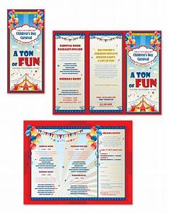 Kids carnival day tri fold brochure template brochure pinterest kid kids carnival and for Brochure templates for kids