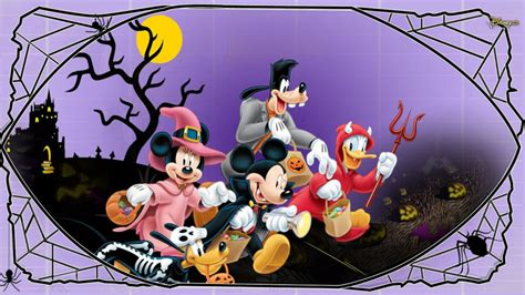 Halloween Mickey Mouse And Minnie Mouse Goofy Donald Duck