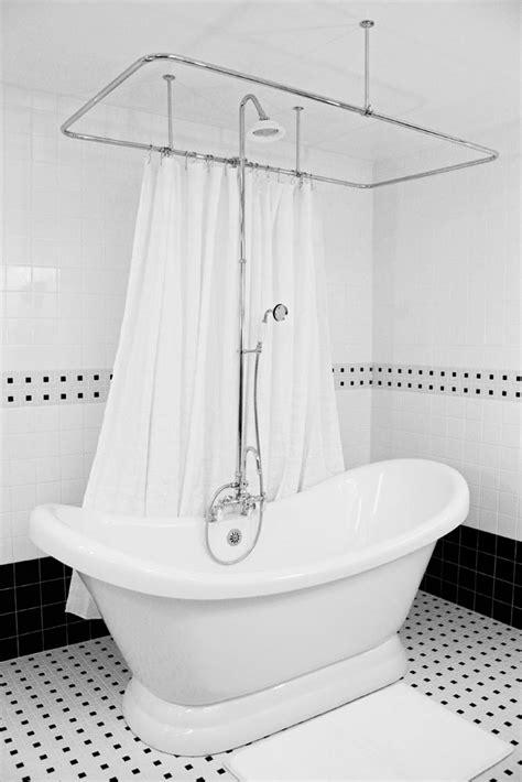 double slipper pedestal tub  shower