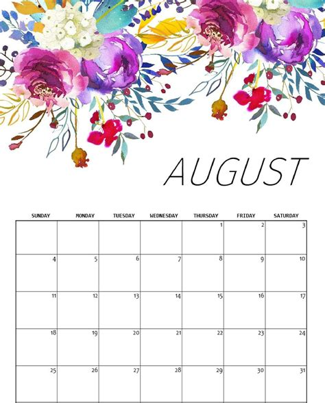 august  calendar printable word excel magic calendar