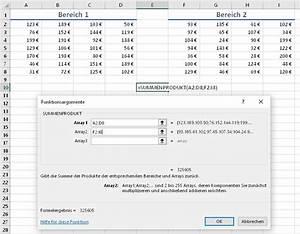 Matrizen Berechnen : excel funktion summenprodukt ~ Themetempest.com Abrechnung