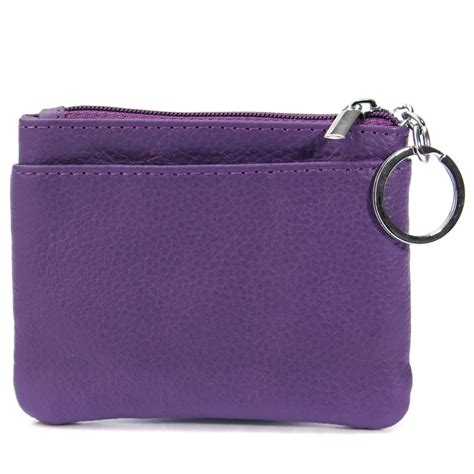 women men small coin wallet card holder key ring pouch
