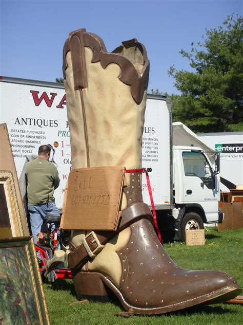 Acres Antiques Brimfield by Brimfield Acres Oversize Advertising Boot