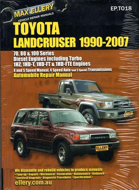 car manuals free online 1993 toyota land cruiser head up display toyota landcruiser 1990 2007 diesel 70 80 100 series ellery repair manual new sagin