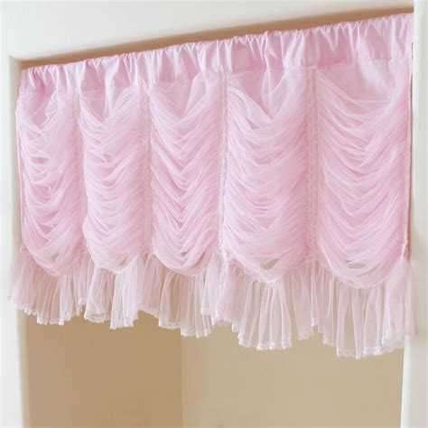 Pink Ruffle Curtain Topper by Ruched Curtain
