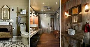 salle de bain rustique 46 idees inspirations photos With salle de bain champetre moderne