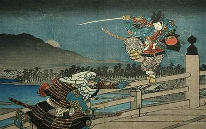 Samurai Ukiyo Woodblock Japanese Wallpapers Desktop Ukiyoe
