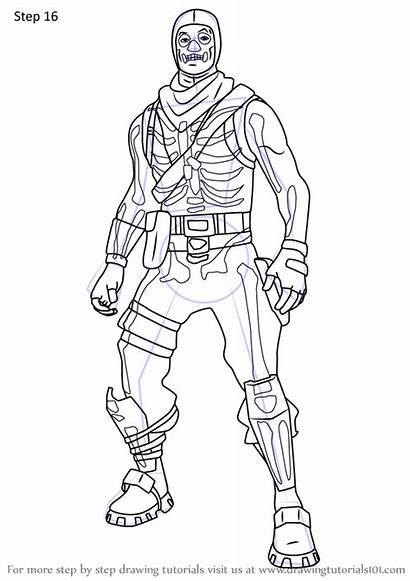 Trooper Skull Fortnite Draw Step Drawing Tutorials