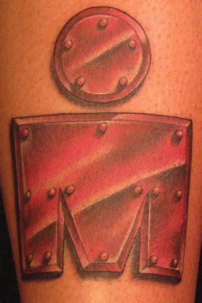 tattoo   iron man symbol    letters