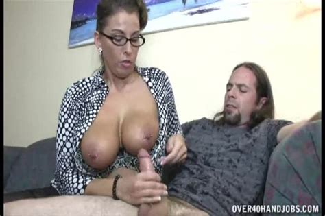 busty mom in glasses seduces her son s best friend and g