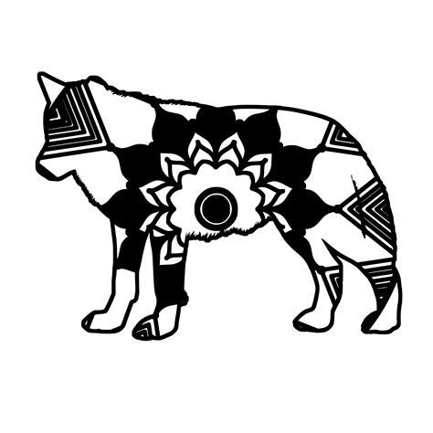 This free svg cut file comes in a single zip file with the following file formats: Wolf Mandala Animal Svg T-Shirt Digital Clipart Mandala ...