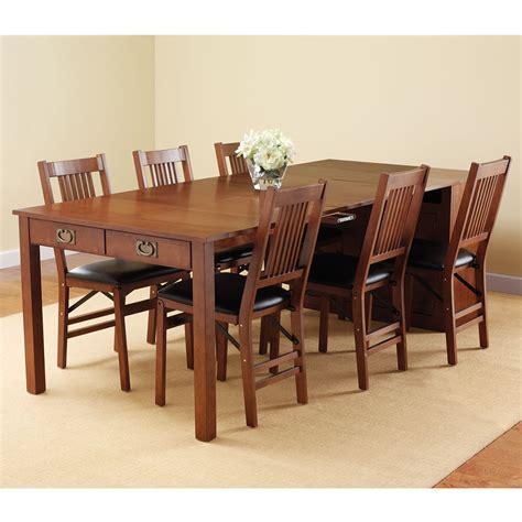 the expanding dining table hutch hammacher schlemmer