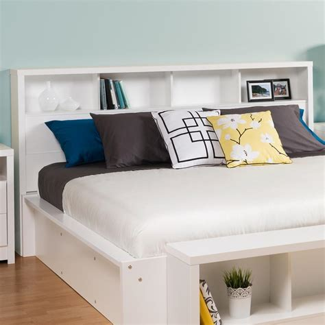 king size bookcase headboard with storage from hearts attic