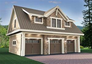 Plan 14631RK: 3 Car Garage Apartment with Class | Garage ...