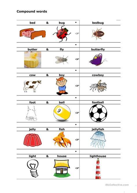 compound words worksheet  esl printable worksheets