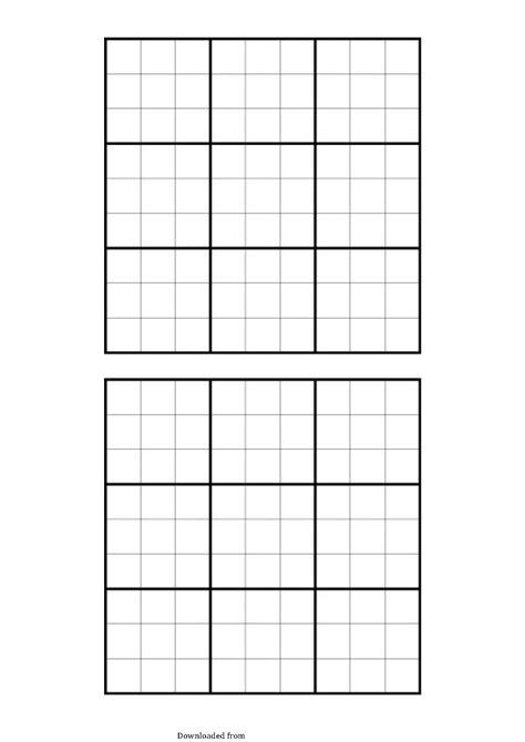 Blank Sudoku Grid - PDF Format   e-database.org