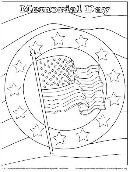 coloring sheet memorial day printable sheets