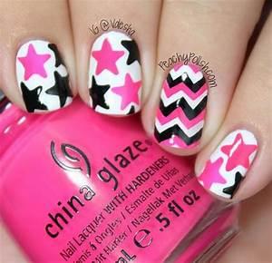 Simple Nail Art Designs Pink And Black - Nail Art Ideas