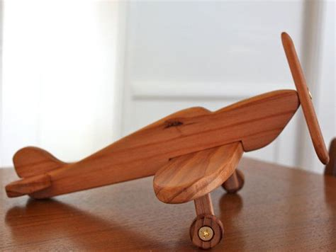 spitfire airplane handcrafted wooden toy  decor