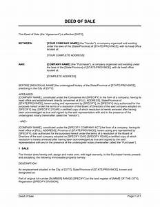 deed of sale real estate property template sample form With property documents format