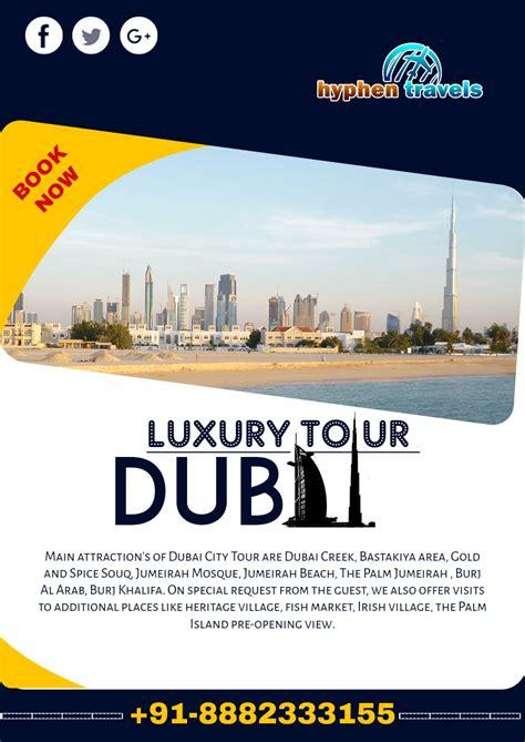 exotic dubai   travel flyer template indiater