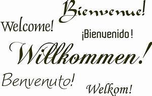 Herzlich Willkommen Bilder Zum Ausdrucken : wandtattoo willkommen in 6 sprachen ~ Eleganceandgraceweddings.com Haus und Dekorationen
