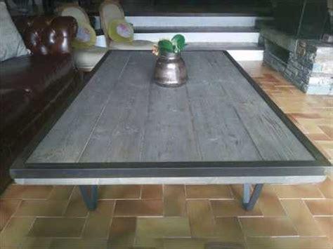 diy table basse style industriel et bois vieillie avec cerclage m 233 tallique