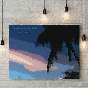 best palm tree painting products on wanelo With best brand of paint for kitchen cabinets with palm tree canvas wall art