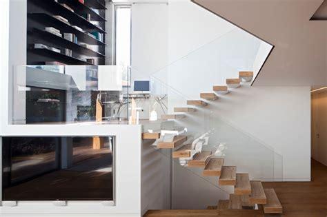 villa amt modern staircase tel aviv  gerstner