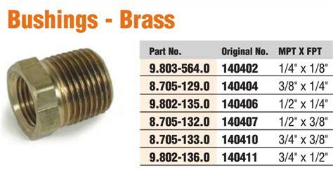 Brass Pipe Hex Bushing 1/2in Mip X 3/8in Fip 8.705-132.0