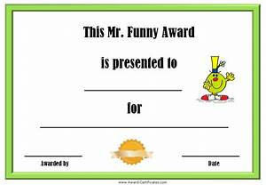 funny employee award certificate templates With free funny certificate templates for word