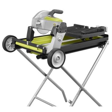 ryobi tile saw home depot ryobi ryobi portable tile saw with laser 7 inch home