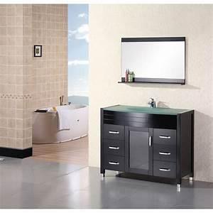 Design Element Waterfall 48quot Bathroom Vanity Espresso