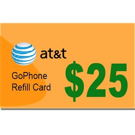 att go phone refill at t gophone 25 refill card from at t commander