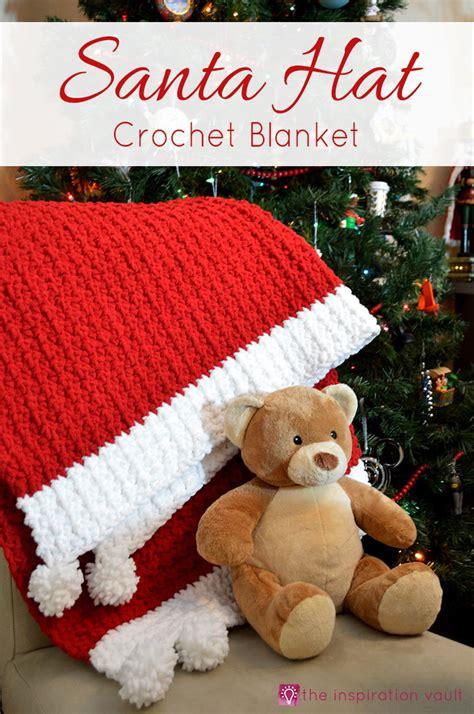 santa hat crochet blanket allfreechristmascraftscom