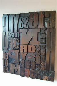 Deco Murale Industrielle : les 25 meilleures id es concernant lettres en bois sur pinterest hobby lobby d coration ~ Teatrodelosmanantiales.com Idées de Décoration