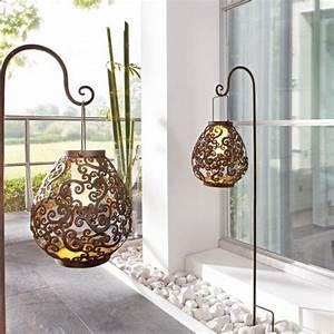 Solarleuchten Zum Hängen : solarleuchte aus metall antik gartenbeleuchtung solar ~ Whattoseeinmadrid.com Haus und Dekorationen