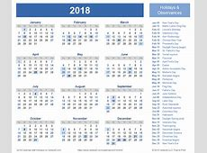 2018 calendar template pdf DownloadClipartorg