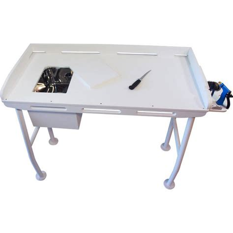 fish cleaning table with sink fillet table with sink 48 quot x 21 quot boat outfitters