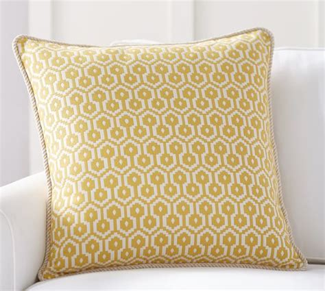 Beaded Jacquard Pillow Cover Pottery Barn New by August Jacquard Pillow Cover Pottery Barn