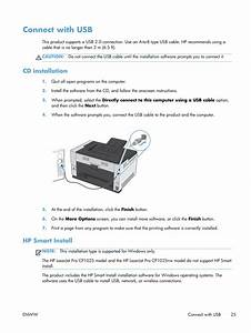 Connect With Usb  Cd Installation  Hp Smart Install