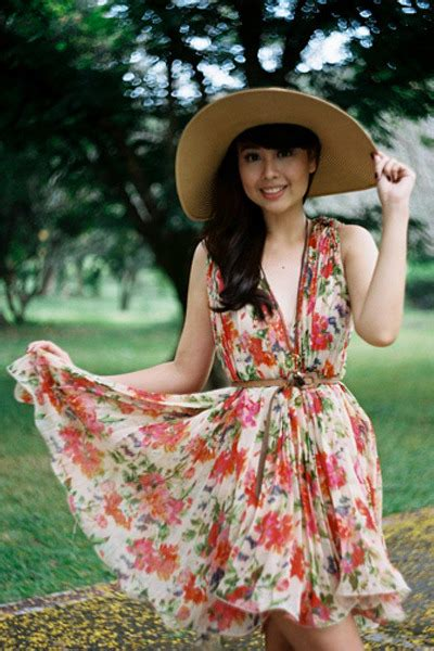 beige floral dress dresses camel hats light brown thin
