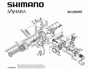 Shimano Sh2500fe Parts List And Diagram