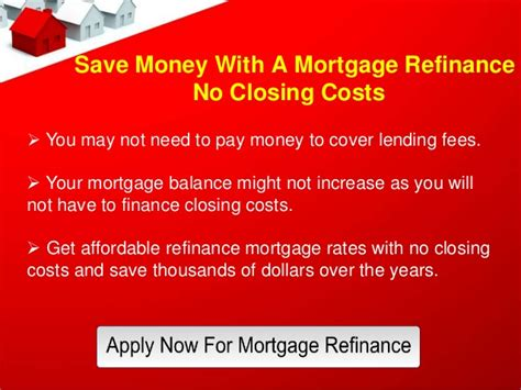 mortgage refinance loans   closing costs