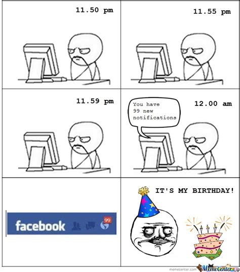 Birthday Facebook Meme - facebook birthday wishes by violethammad meme center