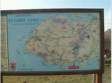 Map in Largy, Sliabh Liag Peninsula, Co © Par